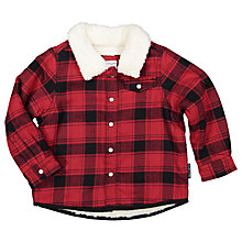 Buy Polarn O. Pyret Children's Checked Shirt, Red Online at johnlewis.com