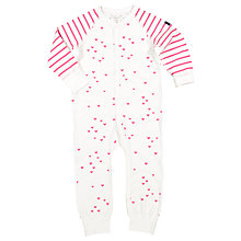Buy Polarn O. Pyret Baby Heart Print Onesie Pyjamas Online at johnlewis.com