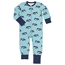 Buy Polarn O. Pyret Children's Fox Print Onesie Pyjamas, Blue Online at johnlewis.com