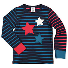 Buy Polarn O. Pyret Children's Star Top, Blue Online at johnlewis.com