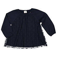 Buy Polarn O. Pyret Baby Tulle Heart Print Top, Navy Online at johnlewis.com