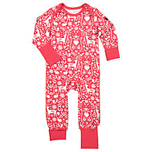 Buy Polarn O. Pyret Baby Nordic Onesie, Red Online at johnlewis.com