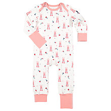 Buy Polarn O. Pyret Baby Rabbit Onesie, Pink Online at johnlewis.com