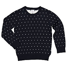 Buy Polarn O. Pyret Children's Polka Dot Jumper, Blue Online at johnlewis.com