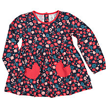 Buy Polarn O. Pyret Children's Floral Tunic Top, Blue Online at johnlewis.com