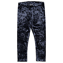 Buy Polarn O. Pyret Children's Velvet Leggings, Blue Online at johnlewis.com