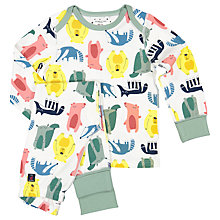 Buy Polarn O. Pyret Children's Woodland Print Pyjamas, Green Online at johnlewis.com
