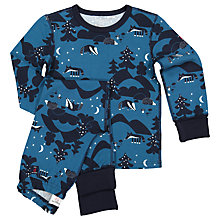 Buy Polarn O. Pyret Children's Night Animal Pyjamas, Blue Online at johnlewis.com