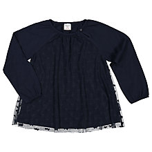 Buy Polarn O. Pyret Children's Tulle Heart Print Top, Navy Online at johnlewis.com