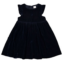 Buy Polarn O. Pyret Girls' Velour Dress, Navy Online at johnlewis.com