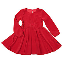 Buy Polarn O. Pyret Girls' Velour Dress, Red Online at johnlewis.com