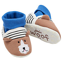 Buy Baby Joules Nipper Dog Slipper Socks, Blue Online at johnlewis.com