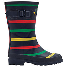 Buy Little Joule Children's Multi Wellington Boots, Navy/Multi Online at johnlewis.com