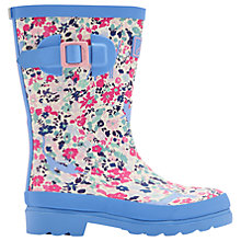 Buy Little Joule Children's Kitty Ditsy Wellington Boots, Blue Online at johnlewis.com