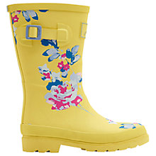Buy Little Joule Children's Margate Floral Wellington Boots, Yellow Online at johnlewis.com