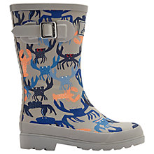 Buy Little Joule Children's Crab Wellington Boots, Grey Online at johnlewis.com