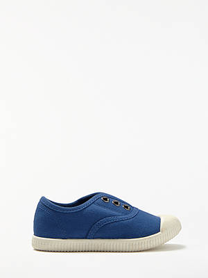 BuyJohn Lewis & Partners Children's Kit Casual Canvas Shoes, Navy, 6 Jnr Online at johnlewis.com