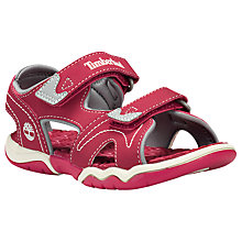 Buy Timberland Children's Adventure Seeker Double Strap Sandals, Red Online at johnlewis.com