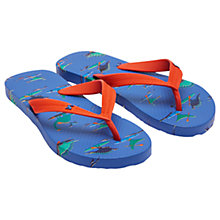 Buy Little Joule Children's Dinosaur Flip Flops, Blue Online at johnlewis.com