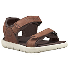 Buy Timberland Children's Rai Nubble Double Strap Sandals, Brown Online at johnlewis.com