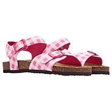 Buy Little Joule Children's Gingham Tippy Toes Sandals, Pink Online at johnlewis.com