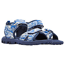 Buy Little Joule Children's Shark Dive Stripe Sandals, Navy Online at johnlewis.com