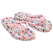 Buy Little Joule Children's Ditsy Ice Lolly Flip Flops, Pink Online at johnlewis.com