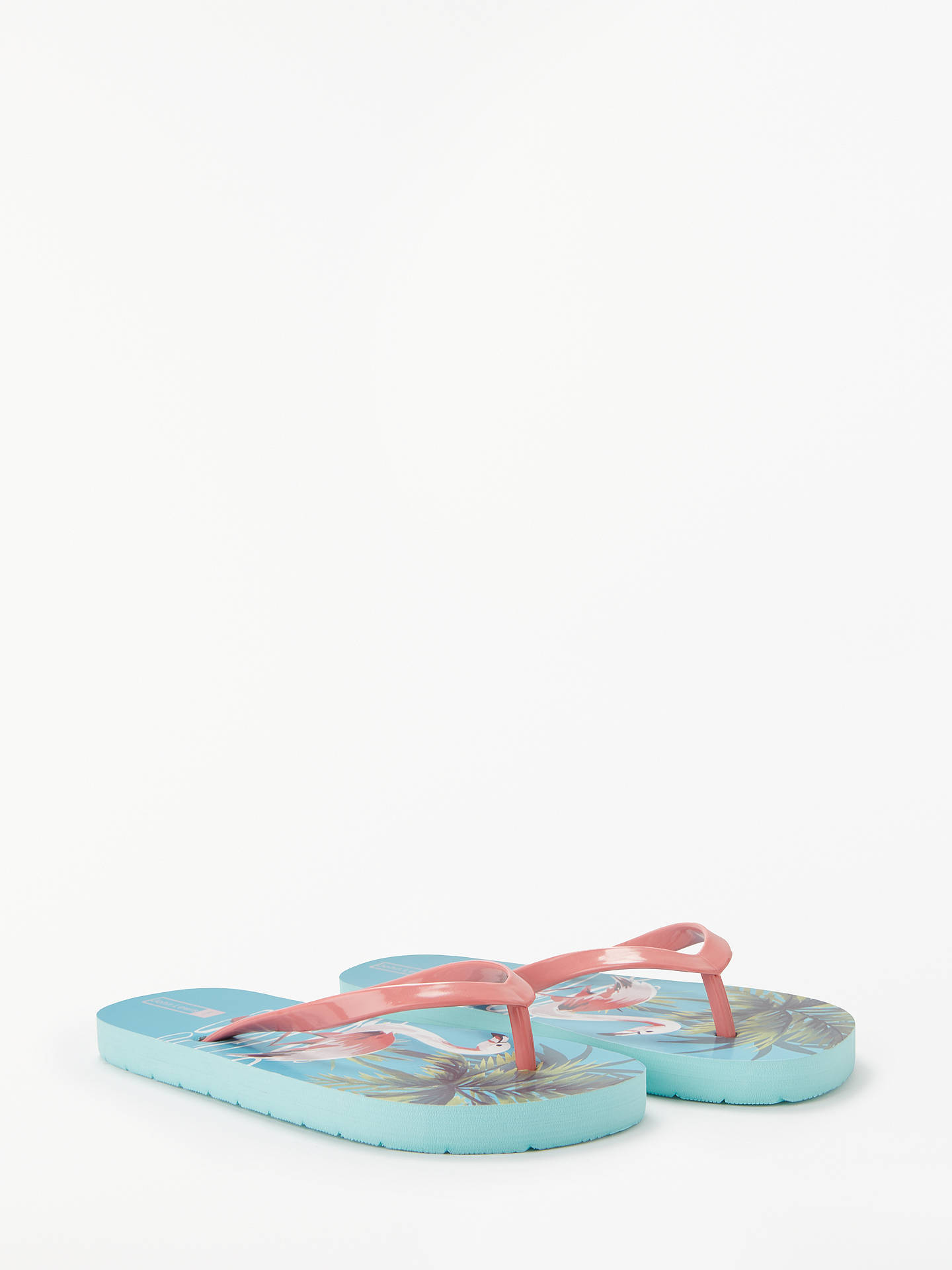 Buy John Lewis & Partners Children's Flamingo Flip Flops, Blue/Multi, 10 Jnr Online at johnlewis.com