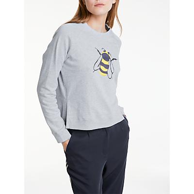 People Tree Bee Sweatshirt, Grey Melange