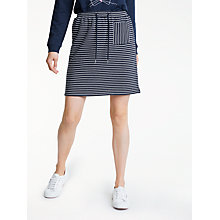 Buy People Tree Lia Stripe Skirt, Navy Stripe Online at johnlewis.com