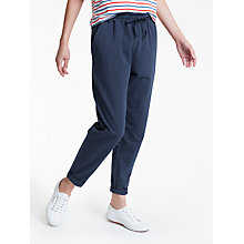 Buy People Tree Sasha Trousers, Navy Online at johnlewis.com