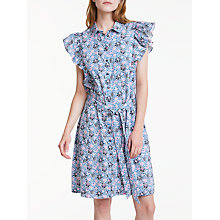 Buy People V&A Tree Grafton Frill Dress, Blue Multi Online at johnlewis.com