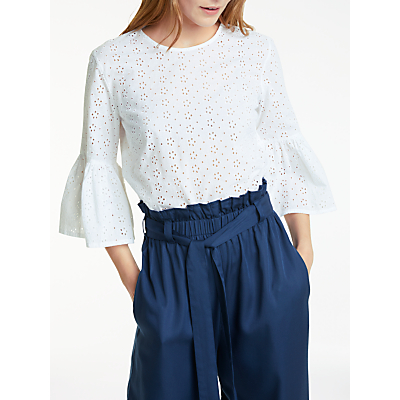 People Tree Mary Broderie Top, White