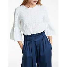 Buy People Tree Mary Broderie Top, White Online at johnlewis.com