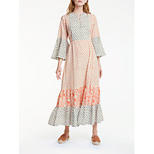 Buy People Tree Anna Dress, Coral Multi Online at johnlewis.com