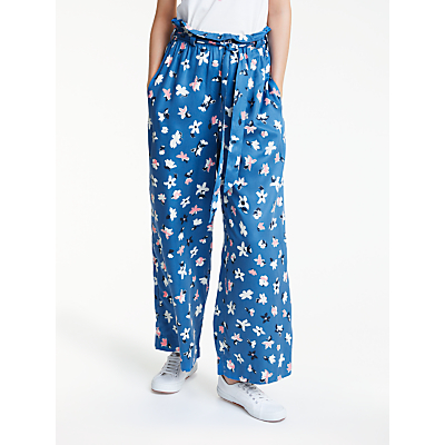 People Tree Susie Floral Trousers, Blue Multi