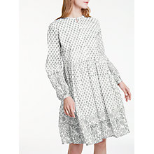 Buy People Tree Fenia Dress, Black/White Online at johnlewis.com