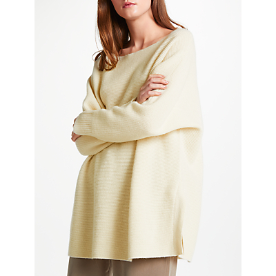 Modern Rarity Cashmere Side Split Jumper, Cream