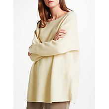 Buy Modern Rarity Cashmere Side Split Jumper, Cream Online at johnlewis.com