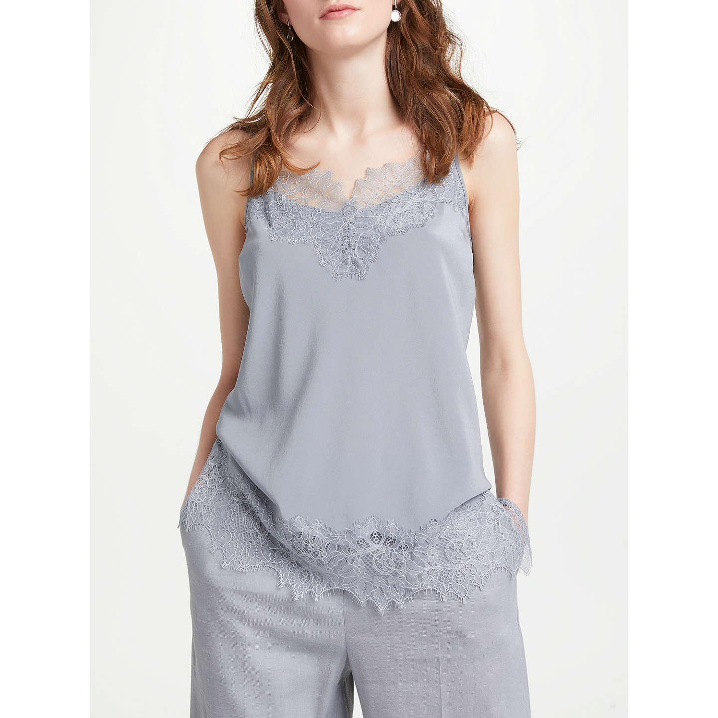 Modern Rarity Silk Cami Top, Light Slate by Modern Rarity