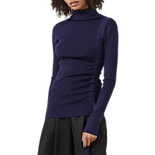 Buy Finery Eastbrook Polo Neck Jumper, Navy Online at johnlewis.com