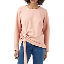 Buy Finery Odessa Ruched Detail Sweat Top, Pink Marl Online at johnlewis.com