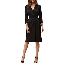 Buy L.K.Bennett Dr Delent Wrap Dress, Black Online at johnlewis.com