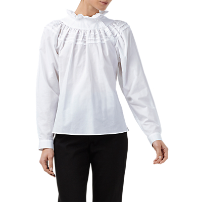 Victorian Blouses, Tops, Shirts, Vests Finery Alice Ruffle Blouse White £69.00 AT vintagedancer.com
