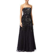 Buy Adrianna Papell Beaded Ball Gown, Black Online at johnlewis.com