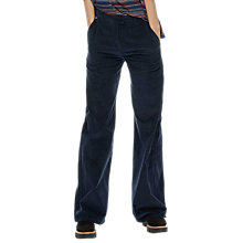 Buy Brora Jumbo Cord Wide Leg Trousers, Navy Online at johnlewis.com