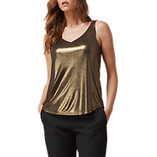 Buy L.K. Bennett Ginn Jersey Top, Gold Online at johnlewis.com