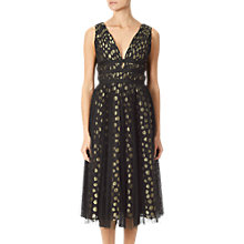 Buy Adrianna Papell Clip Dot Dress, Black/Gold Online at johnlewis.com