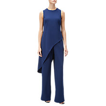 Buy Adrianna Papell Crepe Asymmetrical Jumpsuit, Blue Violet Online at johnlewis.com