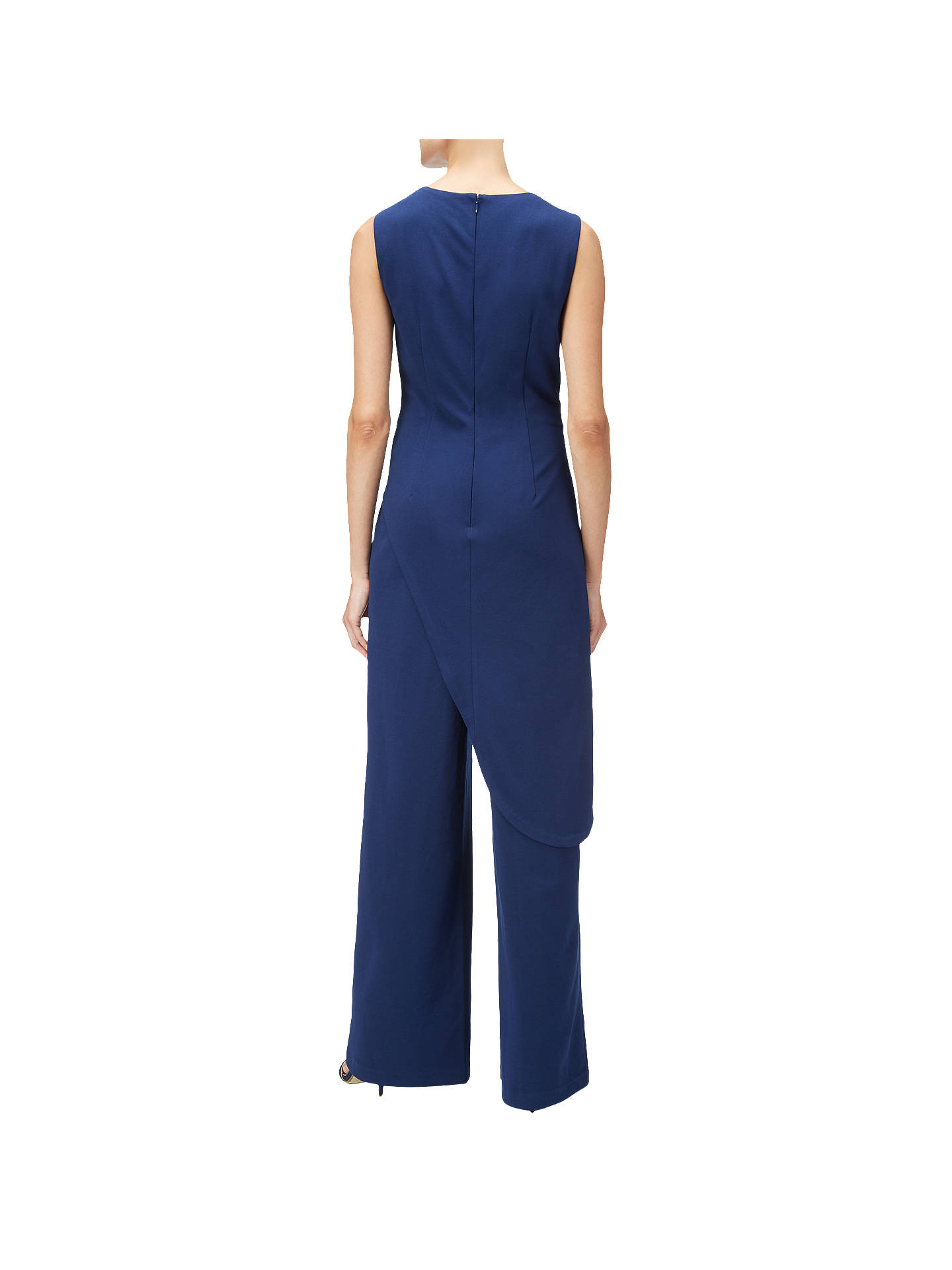 BuyAdrianna Papell Crepe Asymmetrical Jumpsuit, Blue Violet, 8 Online at johnlewis.com